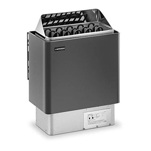Uniprodo UNI_SAUNA_G8.0KW Saunaofen 8 kW 30 bis 110 °C Überhitzungsschutz Thermostat Saunaheizung elektrisch