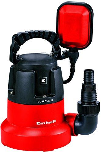 Einhell Tauchpumpe GC-SP 3580 LL (350 W, 8.000 Liter pro Stunde, flachabsaugend bis 1 mm, Pumpenstart ab 8 mm, integriertes Rückschlagventil)