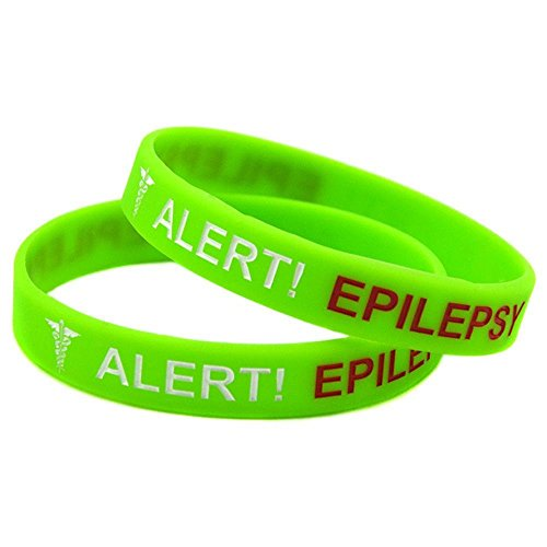 North King Silicone bracelet alert epilepsy hand ring concave-fill child hand ring set of 4 pieces