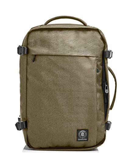 Zaino Ufficio INVICTA TRAVEL Beige - porta Laptop fino a 15,6'' - Viaggio & Lavoro