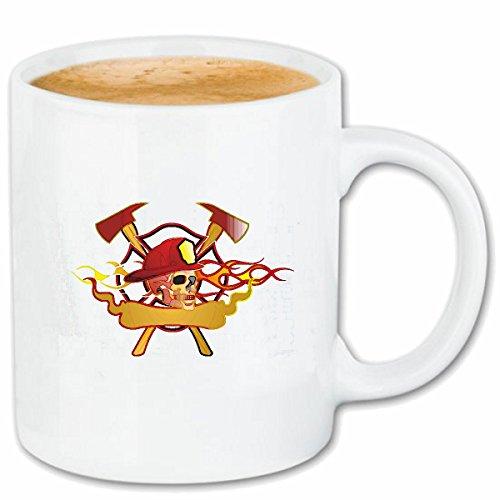 Reifen-Markt Kaffeetasse FEUERWEHRMANN MIT AXT Smileys Smilies Android iPhone Emoticons IOS GRINSE Gesicht Emoticon APP Keramik 330 ml in Weiß
