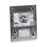 Malden International 4 x 6 A Star IS Born 写真フレーム 新生児の誕生記録用の開口部付き