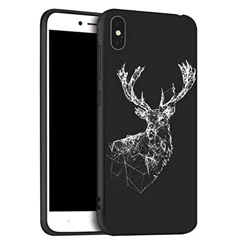 WGOUT Funda de TPU Negra Mate para iPhone XR XS MAX X 11 12 Pro MAX Funda de teléfono Pintada para iPhone 7 8 6S 6 Plus SE 2020 12 Pro Mini, x065, para iPhone SE 2020