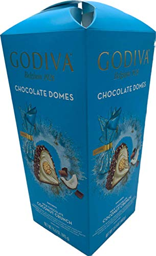 Godiva Coconut Crunch Milk Chocolate Domes 15.6 Ounce