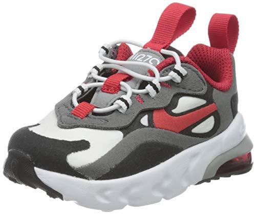 Nike Air MAX 270 RT TD, Zapatillas Unisex Niños, Iron Grey/Univ Red/Negro/Bianco, 34 EU