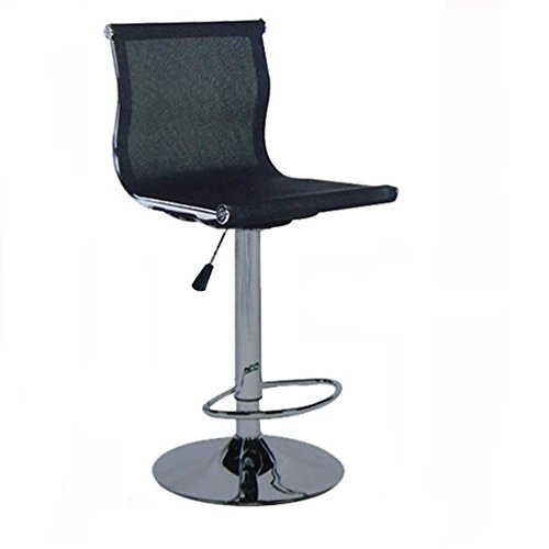 Liftable Office Chair, Rotatable Computer Chair Reception Desk Chair Barstool Household Computer Stool Net Backrest Chair Counter Chair 60-80cm (Color : Black)