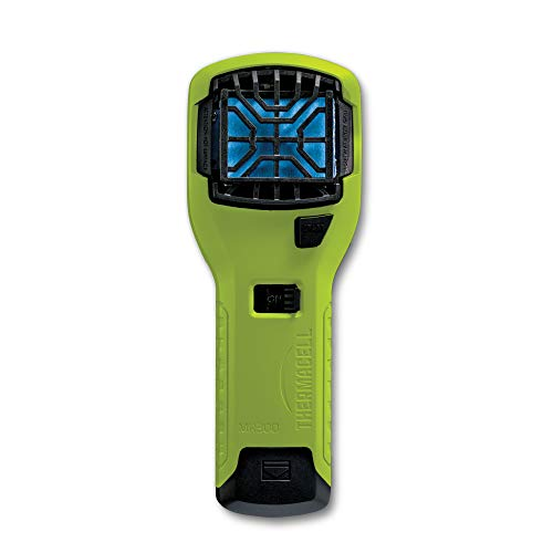 Thermacell MR300 Portable Mosquito Repeller, Hi Vis; Contains Fuel Cartridge, 3 Mosquito Repellent Mats; 15-ft Zone of Protection, 12 Hours of Mosquito-Free Relief Included; DEET-Free, No Spray