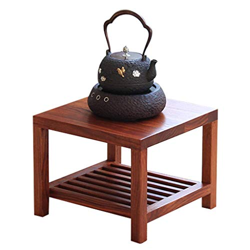 N/Z Tägliche Ausrüstung Natürlicher Beistelltisch Niedriger Tisch Einfaches Interieur Couchtisch Nachttisch Staub Real Design Bett Sofa Wohnzimmer Höhe 30cm Rotbraun