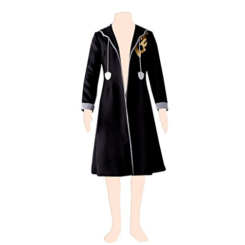 Dream2Reality Fairy Tail Cosplay Costume Jellal Fernandes Ver.1 Hooded Long Coat Large