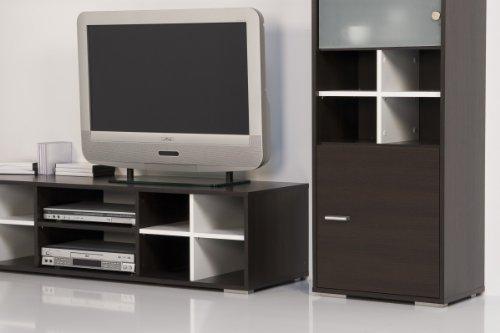 Wohnwand Wenge – Weiß – Top Design und Optik - 2
