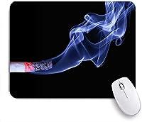 Mabby ゲームオフィスのマウスパッド,Cigarette Smoke,Non-Slip Rubber Base Mousepad for Laptop Computer PC Office,Cute Design Desk Accessories