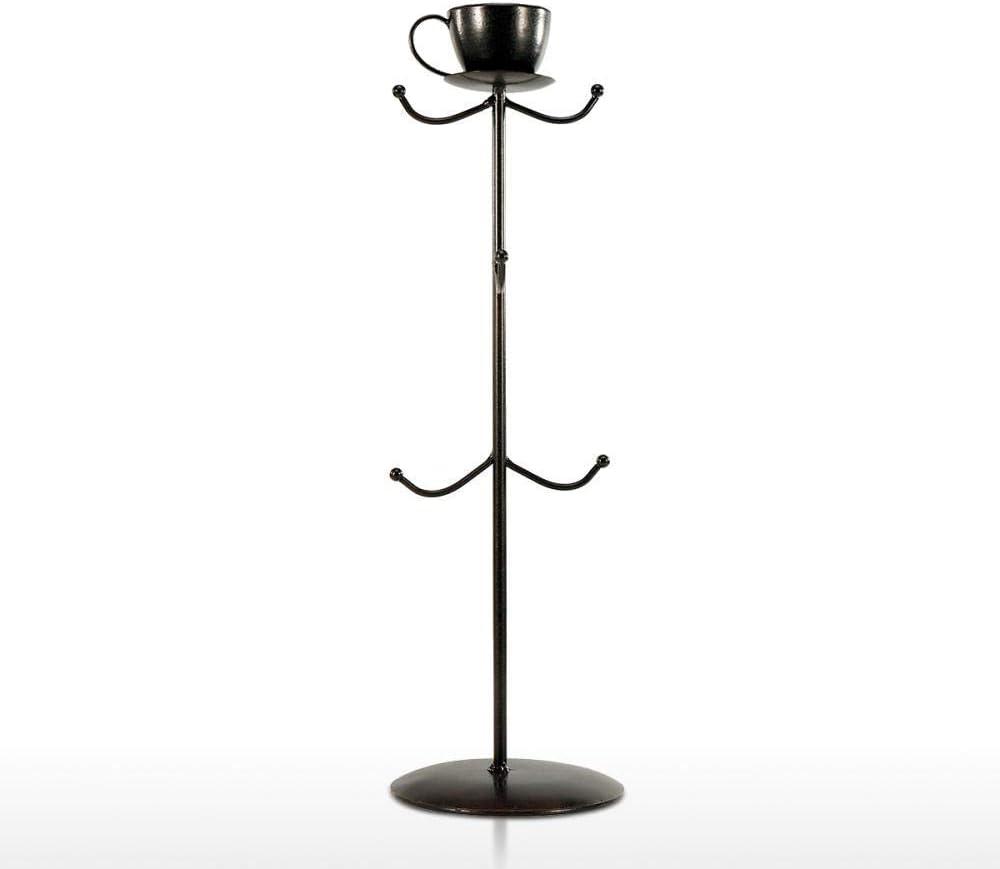 ZXDFG Sculptures Metal Coffee Mug Tree Large Kansas City Mall discharge sale Stand Rack Holder