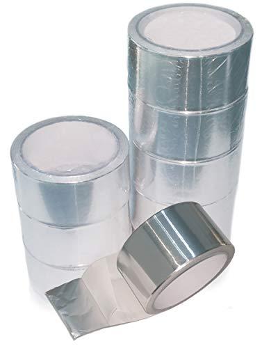 9 Rollen Industrie Aluminiumklebeband Aluband Alu Klebeband 50 mm