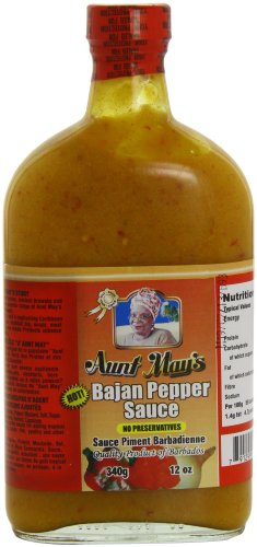 Aunt May's Bajan Pepper Sauce 340 g