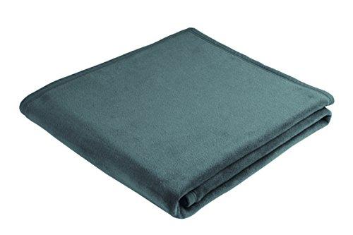 biederlack Thermosoft Decke, Mischgewebe Baumwolle, Aquamarin, Doppelbett, 200x 150cm