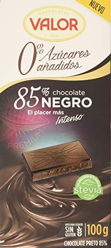 Valor, Chocolate Negro 85% 0% Azúcares Añadidos - 100 gr.