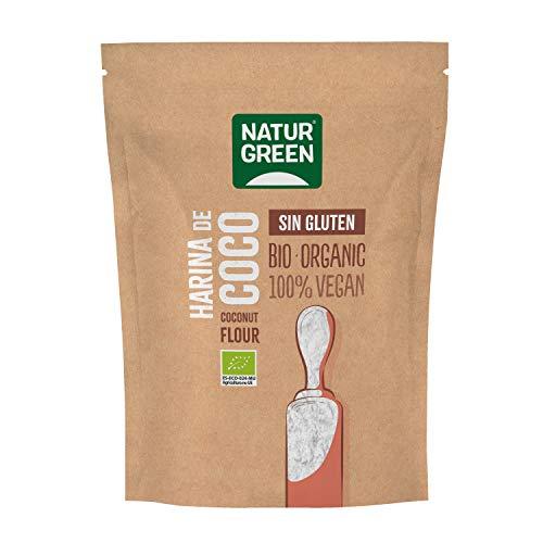 Naturgreen | Harina de coco BIO | Harina Ecológica Sin Gluten Sin Huevo| Especial repostería | 500 g