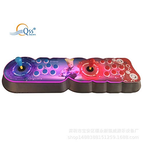 QSs- 3D Pandora's Box Arcade Game Console 3003 Retro HD Games Full HD 720P Video, 2 Player Game Controls, Support Multiplayer Online, Add More Games