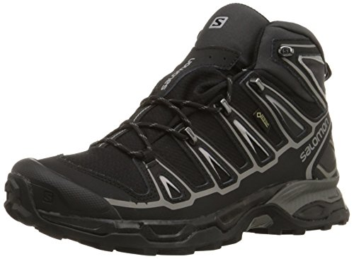 Salomon Men's X Ultra Mid 2 GTX-M, Black/Aluminum, 10 M US
