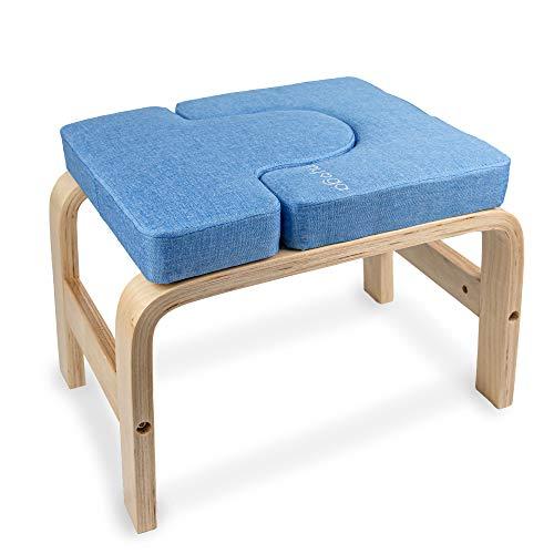 Myga RY1056 Yoga Hocker für Kopfstand - Multifunktionale Yoga Sport Inversion Stuhl Bank für Kopfstand - Yoga Aids Headstander Übung Body-Lift Prop