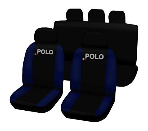 Preisvergleich Produktbild Lupex Shop Polo.Nr. BS Sitzbezüge zweifarbig,  schwarz / dunkelblau