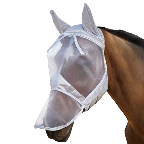 Cavalleria Unisex Adulto Harrison Howard Horse Fly Mask Balck