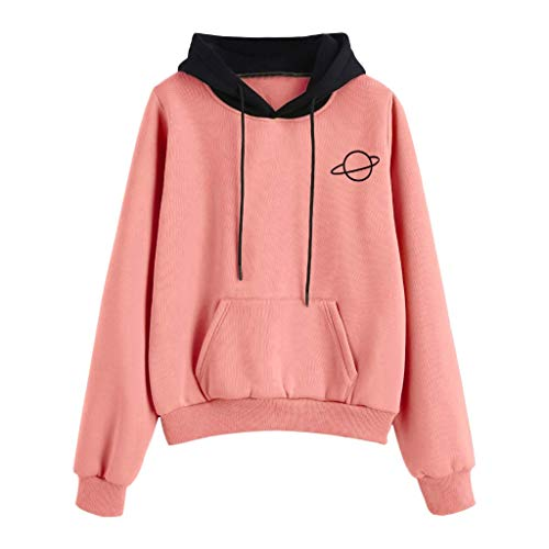 OUICE Sweat à Capuche Femme Manches Longues Poches Hooded Pullover Casual Fashion Couleur Unie ConfortableTops Blouse Shirt Streetwear