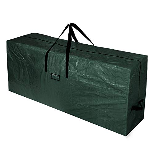 BOTINDO Christmas Tree Storage Bag, Large Zippered Xmas Tree Bag with 2 Reinforced Handles, UnAssembled Artificial Christmas Tree Organizer (Green,XL)