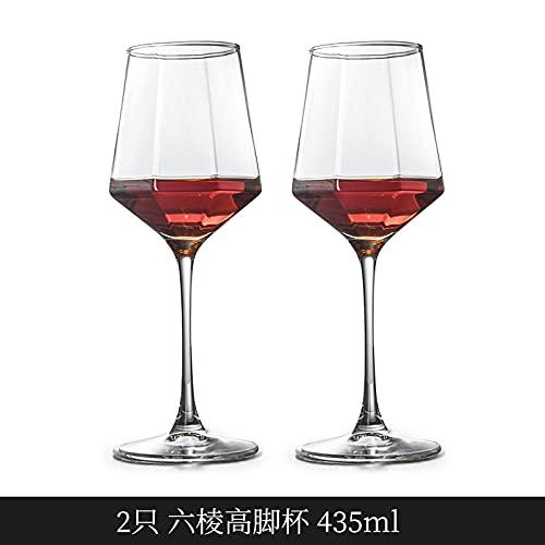 Seis filos vino tinto conjunto hogar envase grande cristal taza vino alta taza-2 seis paseos alta taza