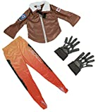 HNNS OW Tracer Cosplay Kids Deluxe Costume Jacket/Pants/Gloves Girls/Boys (M)