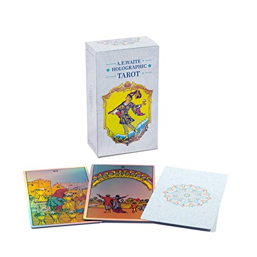MagicSeer Rainbow Tarot Cards Decks, Tarot Card and Book Sets for Beginners, Holographic Tarot Deck