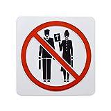 EvolveFISH No Preaching or Proselytizing Door Plaque - [White][4.5' Square]