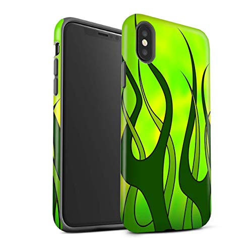 Stuff4®Phone Case/Cover/Skin/ip-3dtbm/Flame Paint Job Collection Verde y Lima Apple iPhone XS MAX