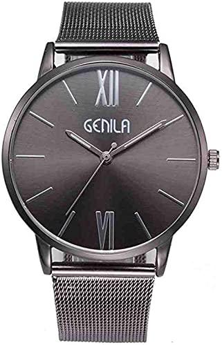 JZDH Mano Reloj Reloj de Pulsera Unisex Mujer Señoras Silver Acero Inoxidable Malla de Malla Muñeca Reloj Relojes Mujeres Relogiono Relojes Decorativos Casuales (Color : E)