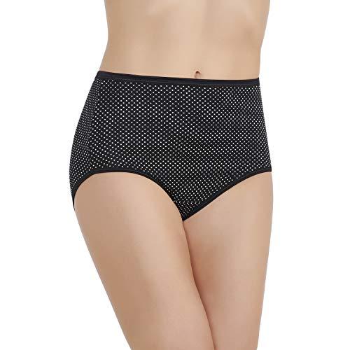 Vanity Fair Women's Illumination Brief Panties (Regular & Plus Size), Premiere Dot Print, 8