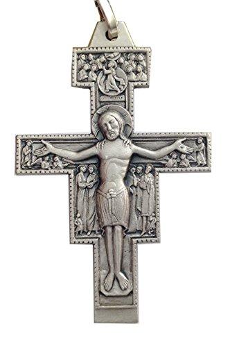 Crocefisso di San Damiano In Argento Massiccio 925 millesimi