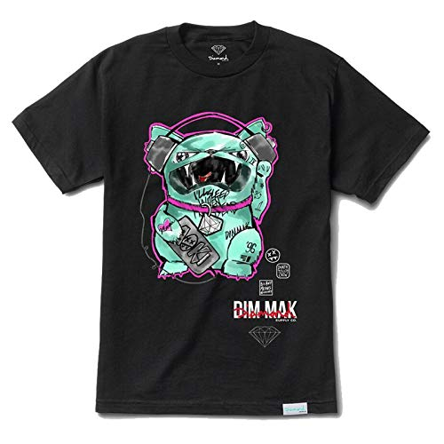 Diamond Supply Co. DMND x Dim Mak by Steve Aoki Men's Short Sleeve T Shirt Black L