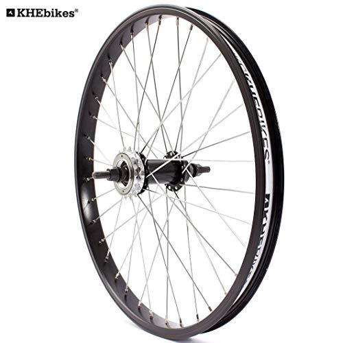 KHE BMX Hinterrad Alu Felge 36 Loch 10mm KHE Felgenband+Ritzel Made in Germany