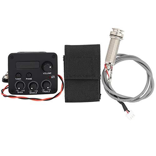 Gitarren-Schallloch-Tonabnehmer, Zubehör für Musikinstrumente 3-Segment einstellbarer Gitarren-Tonabnehmer LCD-Bildschirm für Musikliebhaber für Akustikgitarre