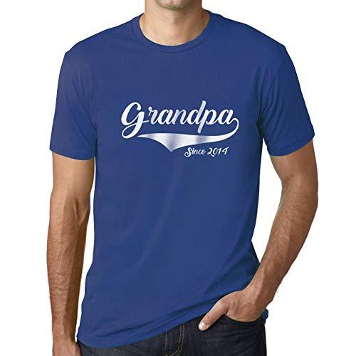 Ultrabasic - Hombre Camiseta Gráfico tee Shirt Grandpa Since 2014 T-Shirt Funny...