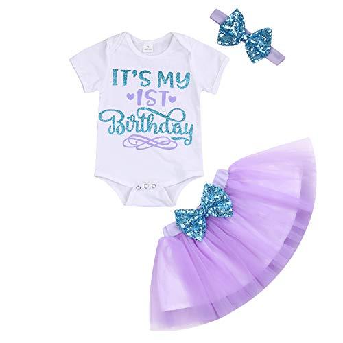 YOUNGER TREE Newborn Baby Girls It's My 1st Birthday Dress...