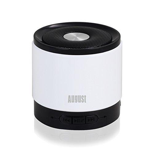 August MS425 Mini Altoparlante Bluetooth con Microfono - Potente Altoparlante Portatile Senza fili con VivaVoce - Compatibile con iPhones, iPad, Tablet, Cellulari, Smartphones, PC, Laptops