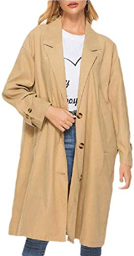 Dames Single Breasted Coat Windbreaker Effen Lapel Jas Trenchcoat Bovenwerk