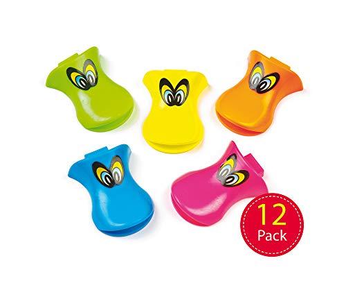 Baker Ross Silbatos con Forma de Pato para Niños. Pequeños Juguetes Perfectos como Relleno de Piñata Divertidos Premios y Regalos de Fiestas Infantiles (Pack de 12)