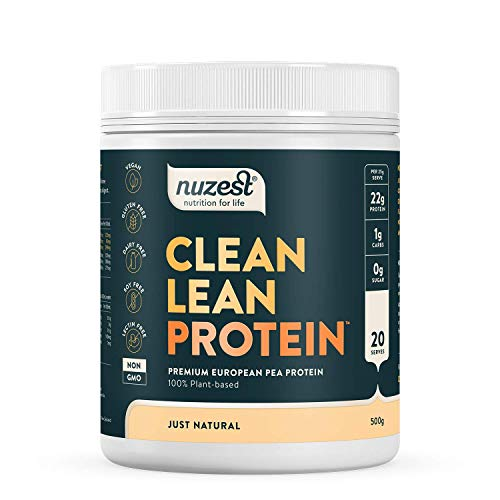 Nuzest Clean Lean Protein Premium Vegan Pea Protein Powder Plant Protein Dairy Free Gluten Free GMO Free Naturally Sweetened 20 Servings