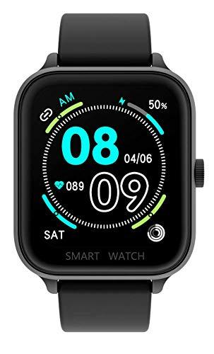 DSY Smart Watch 1.69 Pulgadas HD Pantalla Grande Bluetooth Teléfono Bluetooth Llamada Smartwatch Pulsera Fitness Tracker Smart Sports Watch Tracker, Gris Reloj Inteligente/Negro