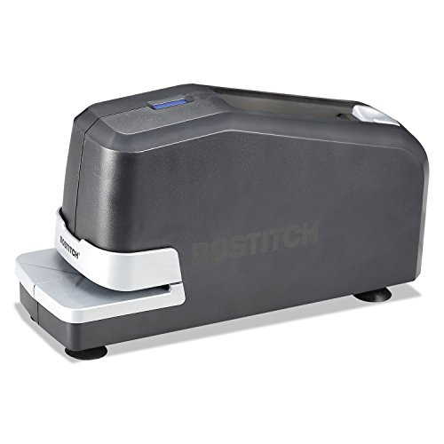 Electric Stapler with Anti-Jam Mechanism, 20-Sheet Capacity, Black