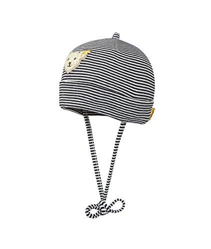 Steiff Steiff Unisex - Baby Mütze 0006610 Mütze Gr. 43 Cm Kopfumfang, Gestreift, Gr. One Size (Herstellergröße: 43), Blau (Steiff Marine 6018)