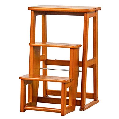 JPL Taburetes para el hogar, taburete plegable multifunción para el hogar, silla con escalera de 3 escalones, zapatero, estante para flores, taburete para la cocina, asientos de la escalera, estante
