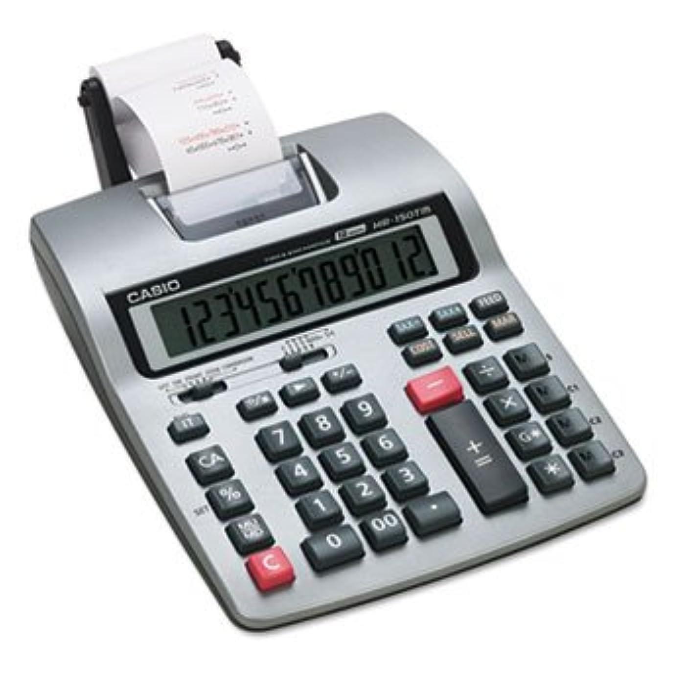 使役実行テンポhr-150tm 2色印刷、電卓12桁LCD、ブラック/レッド